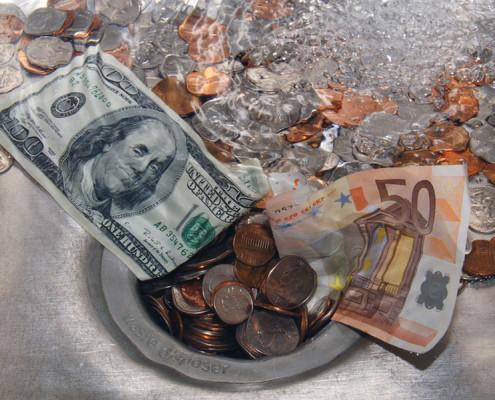 money-down-drain